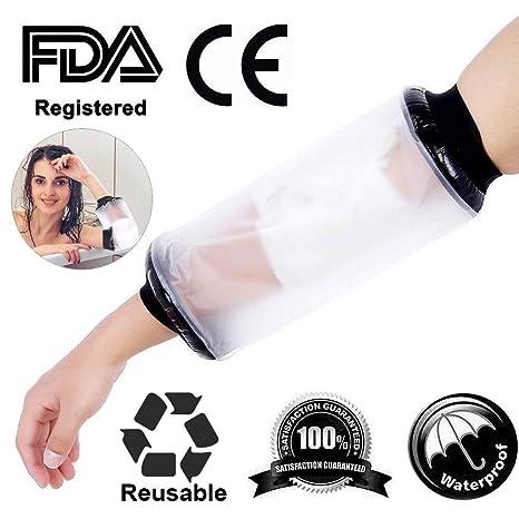 Impermeable al agua Protector vendaje Plaid Wound Fracture pie pierna  rodillera protectora para ducha adulto codo 9b21cf3ec006