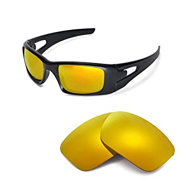 a530e7f00a Walleva Replacement Lenses for Oakley Crankcase Sunglasses - Multiple  Options (24K Gold Mirror Coated -