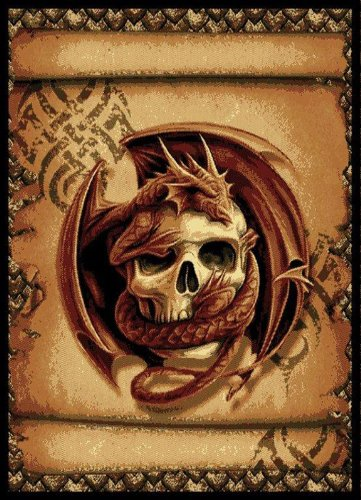 United Weavers Legends Snake Eyes Black Area Rug