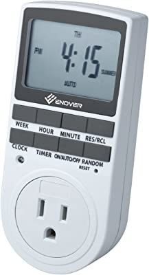 Smart Digital Light Timer with 3-Prong Outlet 7-day