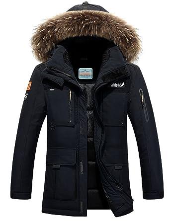 reputable site e536f 8d696 Menschwear Herren Winter Warme Jacke Daunenjacke Langarm ...