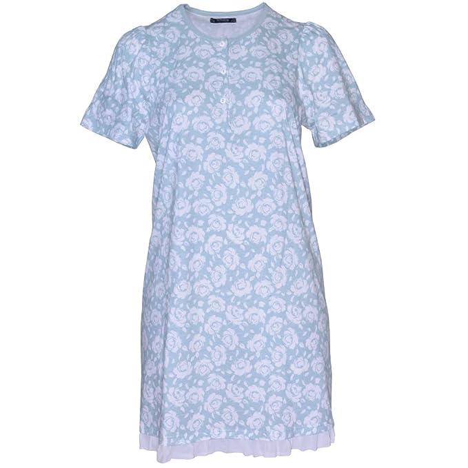 sito affidabile 4709c bf5c8 Linclalor Camicia da Notte Donna Manica Corta Cotone Taglia ...
