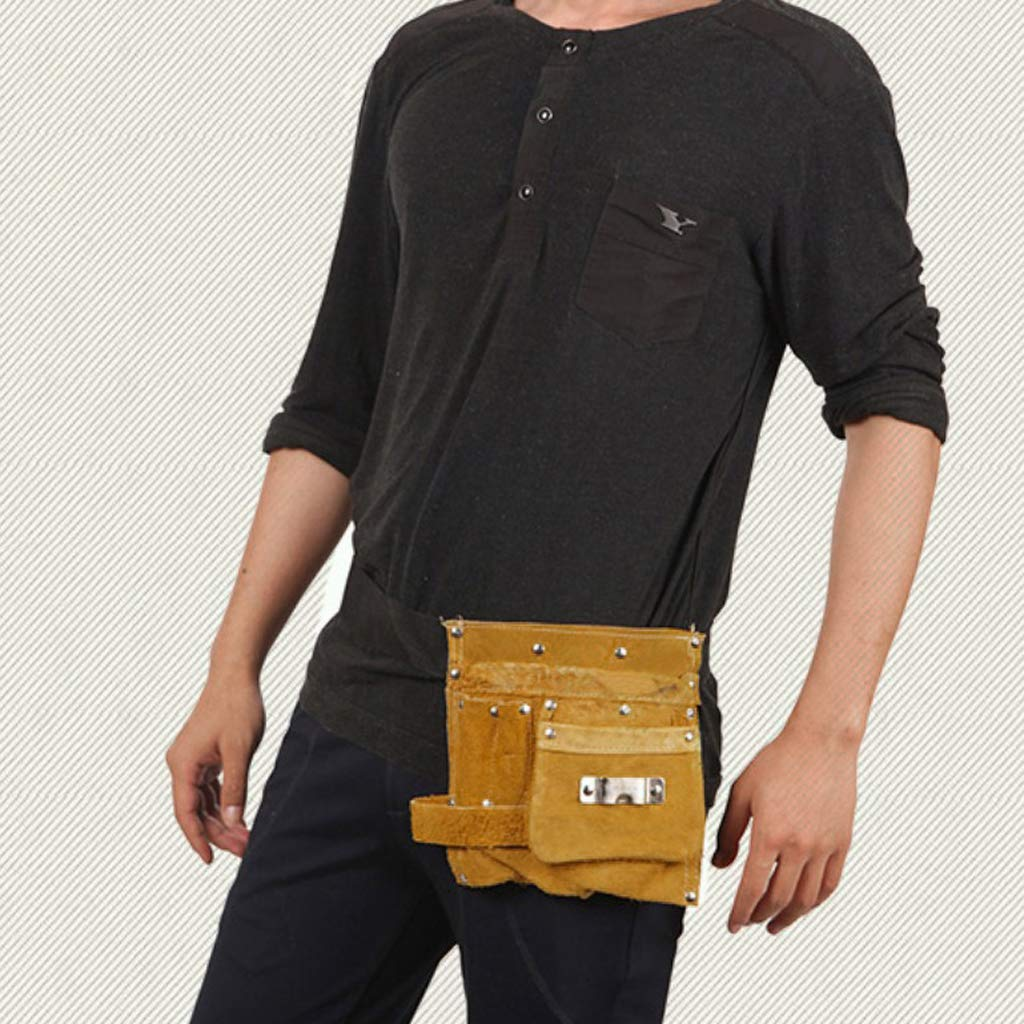 Artificial Leather Tool Belt Worker Pouch Welders Pockets Scope of Application Small Tools for Welding