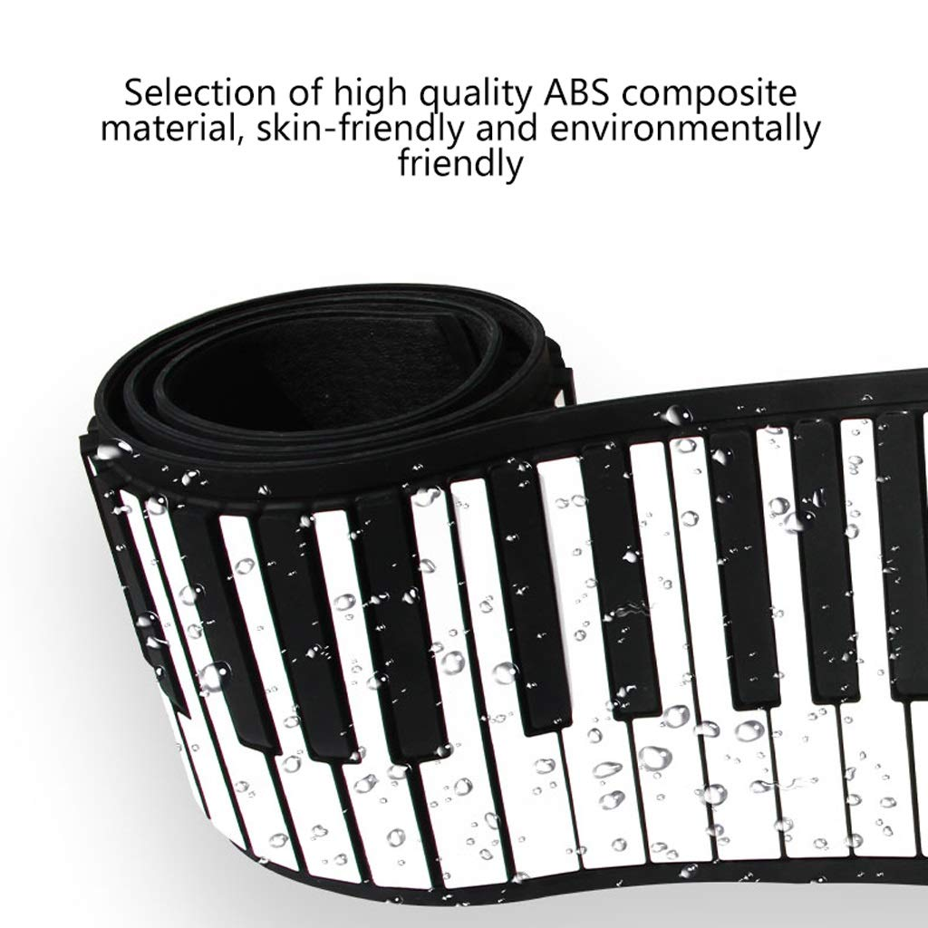 LINGLING-piano Hand Roll Piano 61/88 Key Hand Roll Piano Keyboard Thickening Professional Version Beginner Practice Portable Electronic Piano (Color : Black, Size : 61 Keys) by LINGLING-piano (Image #5)