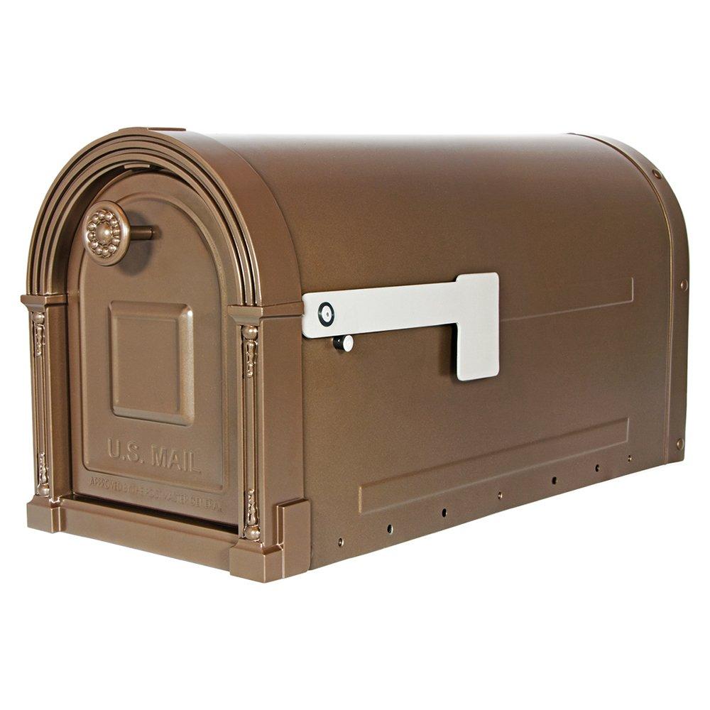 Gibraltar Mailboxes Garrison Large Capacity Galvanized Steel Venetian Bronze, Post-Mount Mailbox, GM160VB0