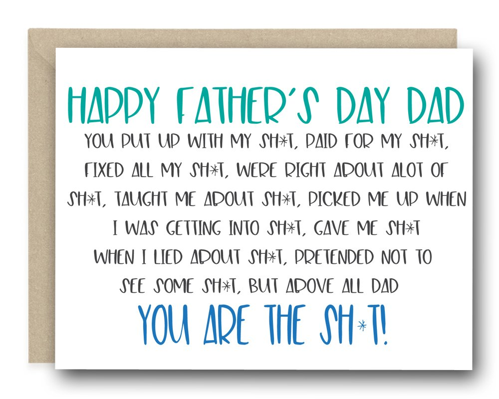 Funny Father's Day Card - You Are The Sh*t