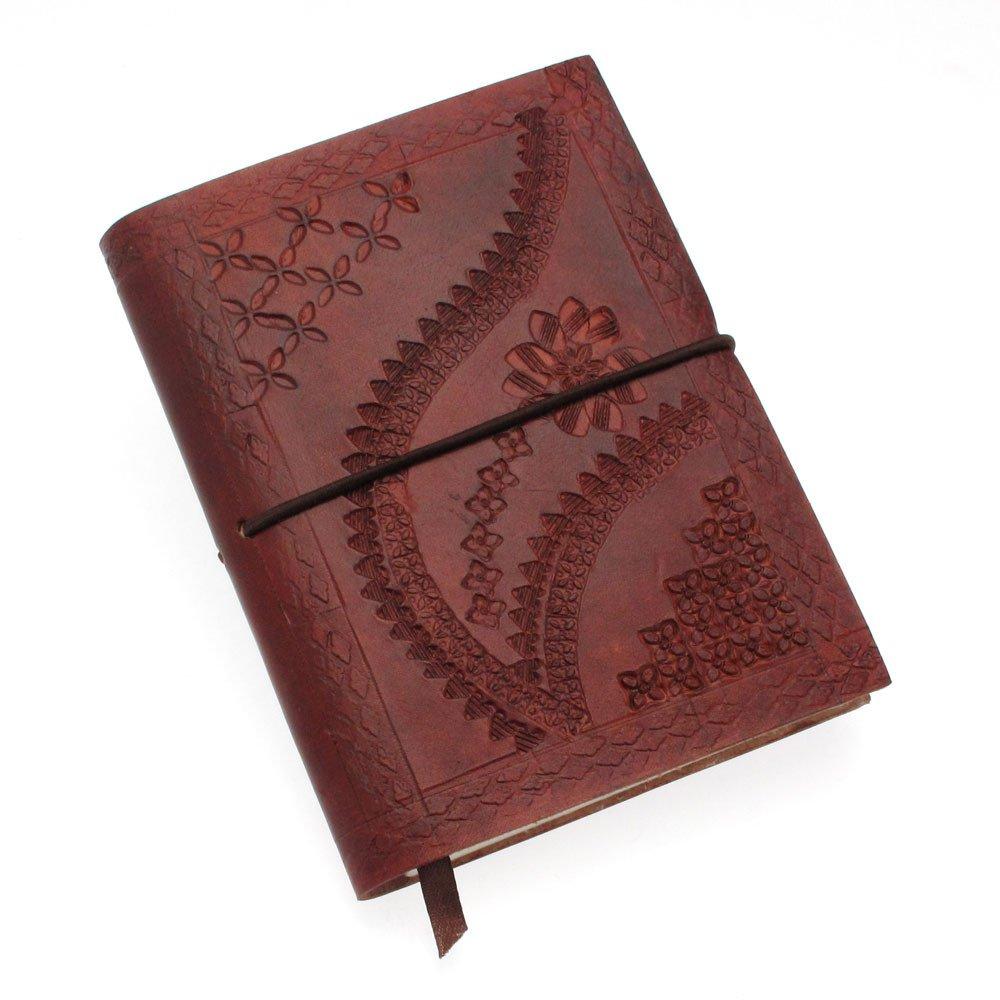 Paper High Carnet de notes en cuir gaufré Marron chocolat 105 x 145mm OfficeCentre