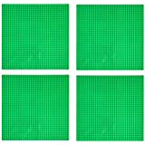 "EKIND 4 PCS Classic Building Base Plate 10"" x 10"" - Compatible with Building Brickyard Blocks All Major Brands (Green)"