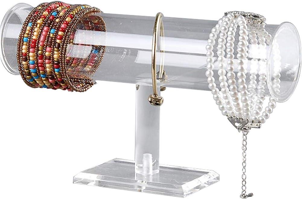 Amazon Com Acrylic Removable Bracelet Display Holder Stand 1 Tier Jewelry Rack Watch Headdress Flower Organizer T Bar I Shaped Shelf Case Home Kitchen