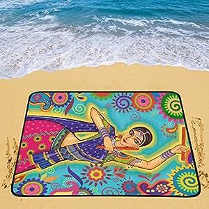 Happy más personalizado indio mujer portátil y plegable (60x 78cm