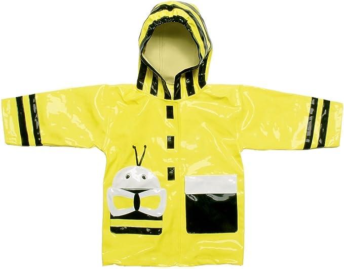 Yellow Kidorable Kids Bumble Bee Hooded Raincoat Small 80-86cm