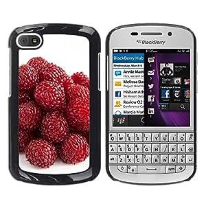 Paccase / SLIM PC / Aliminium Casa Carcasa Funda Case Cover - Strawberry - BlackBerry Q10