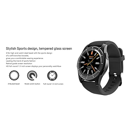 Amazon.com: Padgene Smart Watch, Multi-Function Bluetooth 4.0 Fitness Tracker Wearable Smart Health Wrist Waterproof Watch Phone with SIM Card Slot for iOS ...