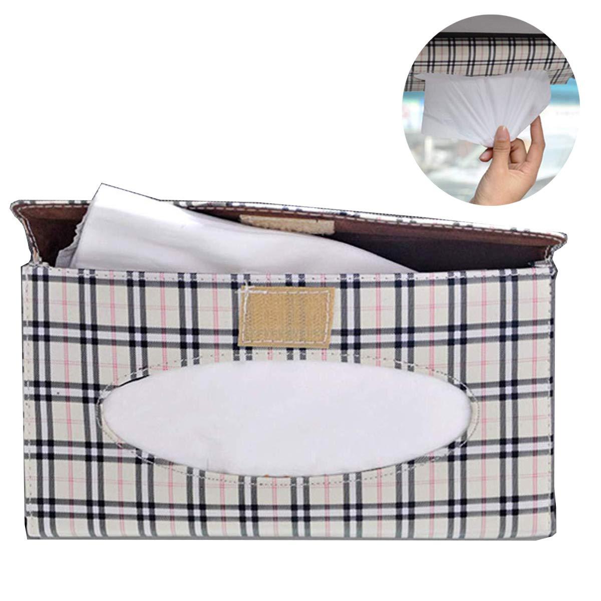Neverles Car Visor Tissue Holder Sun Visor Napkin Holder Backseat Tissue Case Holder for car Paper Tissue Dispenser for Visor /& Backseat