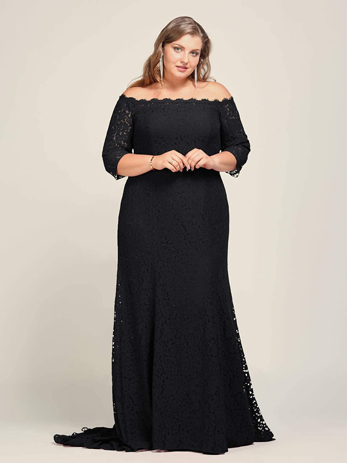 Alicepub Lace Plus Size Wedding Bridesmaid Dress Long for Formal Evening  Special Ocassions