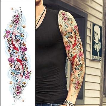 Modeganqing 3 Pegatinas de Tatuaje de Brazo Grande Coloridas ...