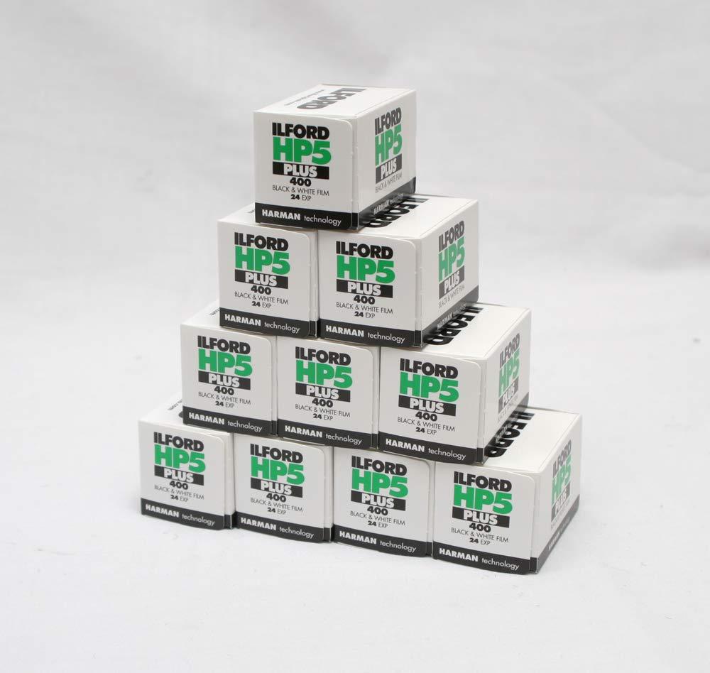 24/exp Multipack de 10/ Ilford HP5/+ Blanco y Negro Protector de Pantalla c/ámara