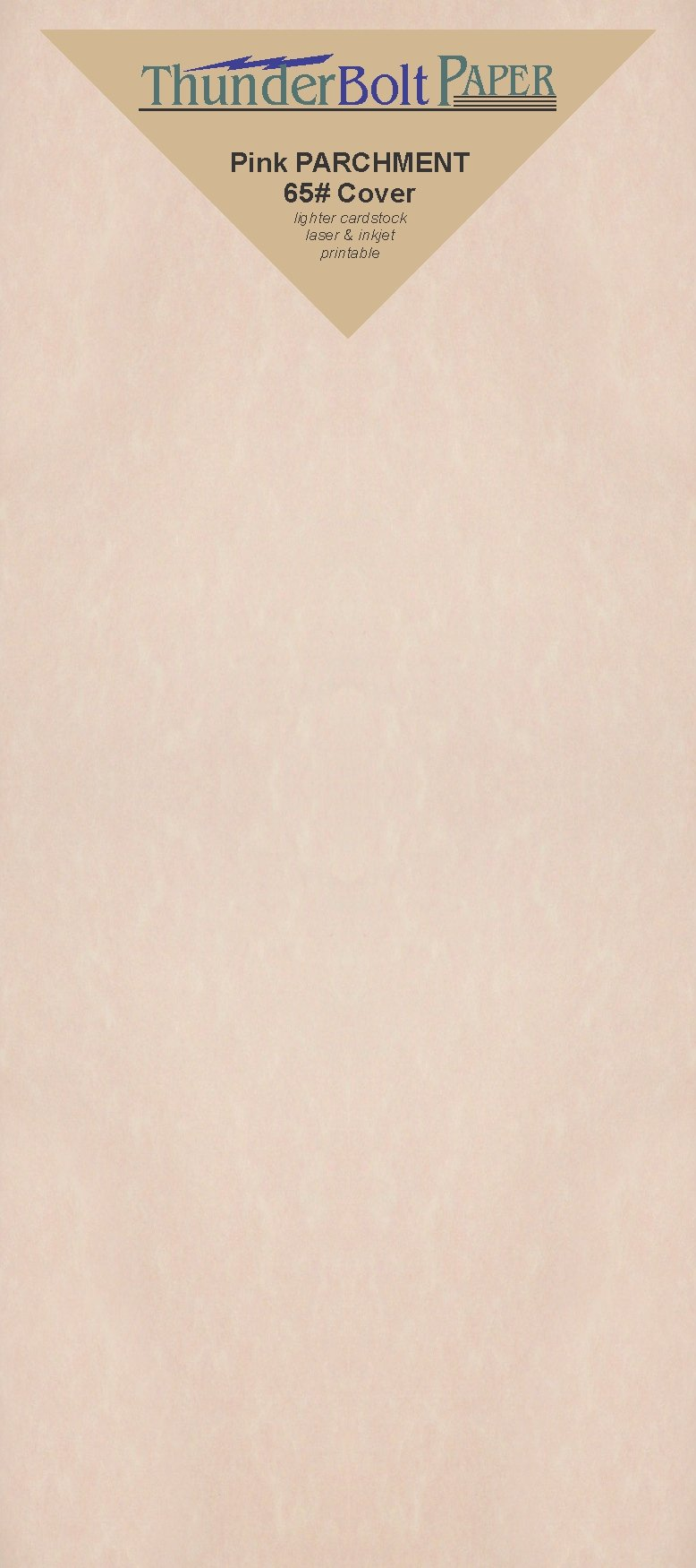 125 Pink Parchment 65lb Cover Weight Paper - 4'' X 9'' (4X9 inches) #10 Envelope Insert Size - Printable Cardstock Colored Sheets Old Parchment Semblance by ThunderBolt Paper