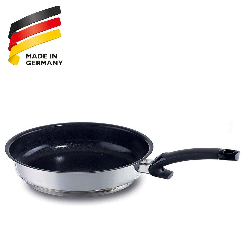 Fissler 13810324100 Maxeo Comfort - Sartén de acero inoxidable, cerámica y plástico (24 cm): Amazon.es: Hogar
