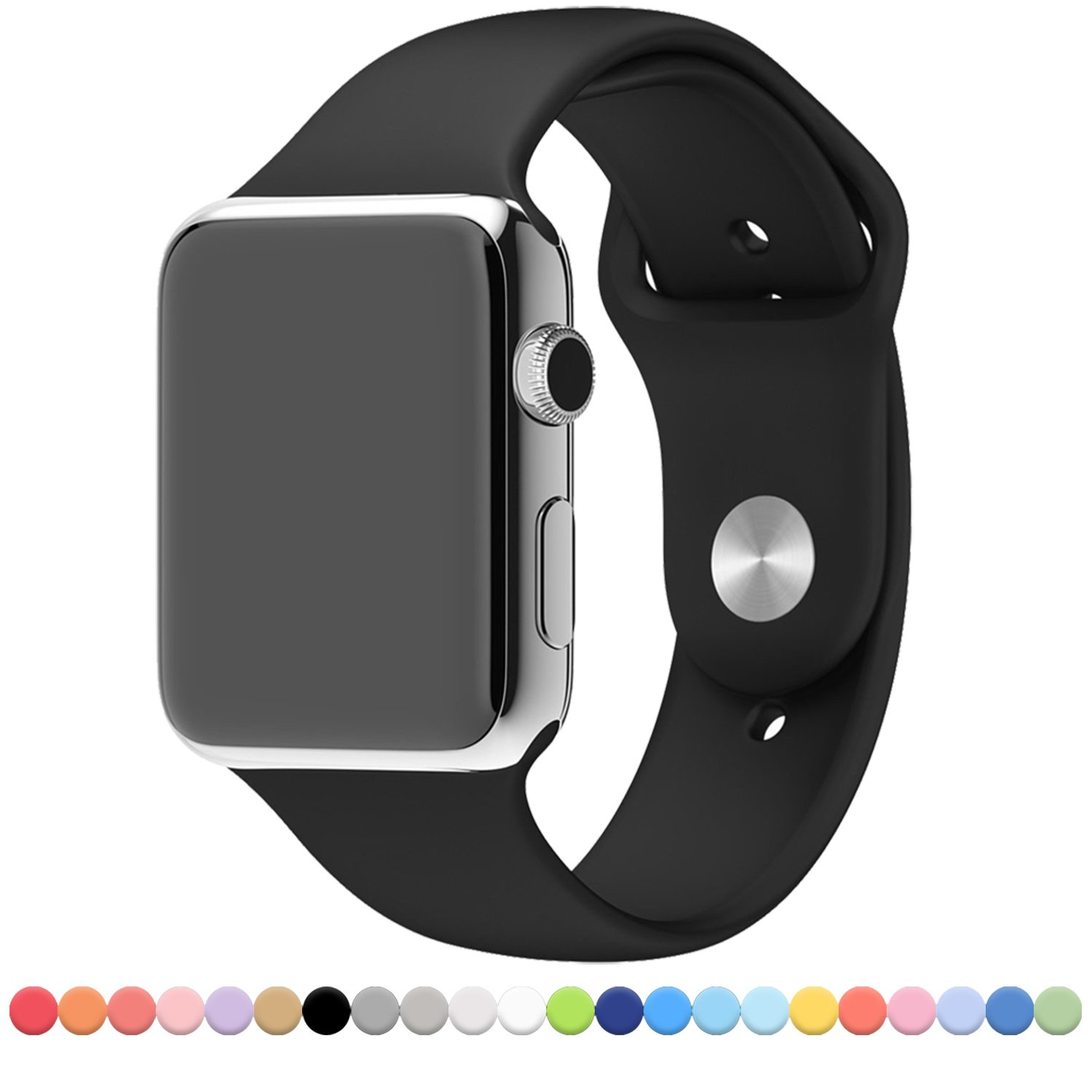 Black colour sport band for apple watch