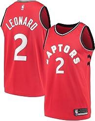 e60e0ca2 Majestic Athletic Men's Toronto Raptors # 2 Kawhi Leonard Jersey - Red ...
