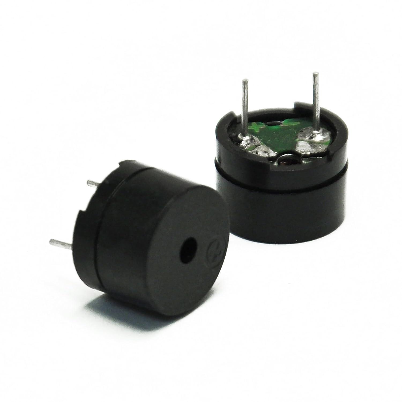 10 St/ück Gikfun 5 V 2 Terminals Passive Elektronik Buzzer f/ür Arduino EK2146