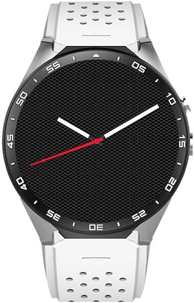 Reloj Inteligente Bluetooth KW88 con Pantalla táctil y Monitor de frecuencia cardíaca Reproducción de música Soporte Smart Health Watch Tarjeta SIM TF/SD para iPhone Samsung Huawei (Negro)