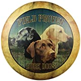 Duck Dogs Dome Sign Tin Sign 12 x 12in by Ohio Wholesale