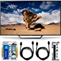 Sony KDL-48W650D 48-Inch Class Full HD 1080P TV with Built-in Wi-Fi Accessory Bundle includes Television, Screen Cleaning Kit, Power Strip with Dual USB Ports and 2 HDMI Cables
