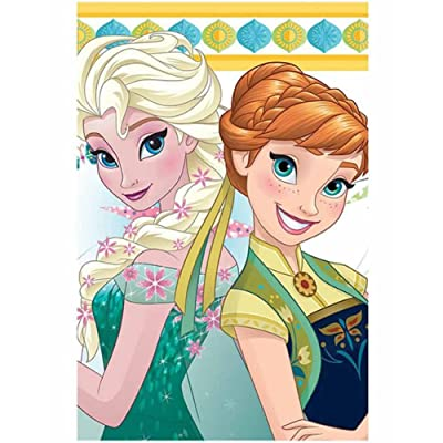 Disney Frozen Fever Plastic Tablecover: Toys & Games
