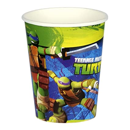 8 vaso de cartón 266ml tortugas ninjas mutantes adolescentes ...