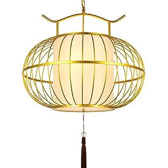 Lámpara de jaula de pájaros lámpara de restaurante chino bar casa ...