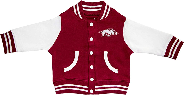 Amazon Com Creative Knitwear University Of Arkansas Razorbacks Varsity Jacket Clothing
