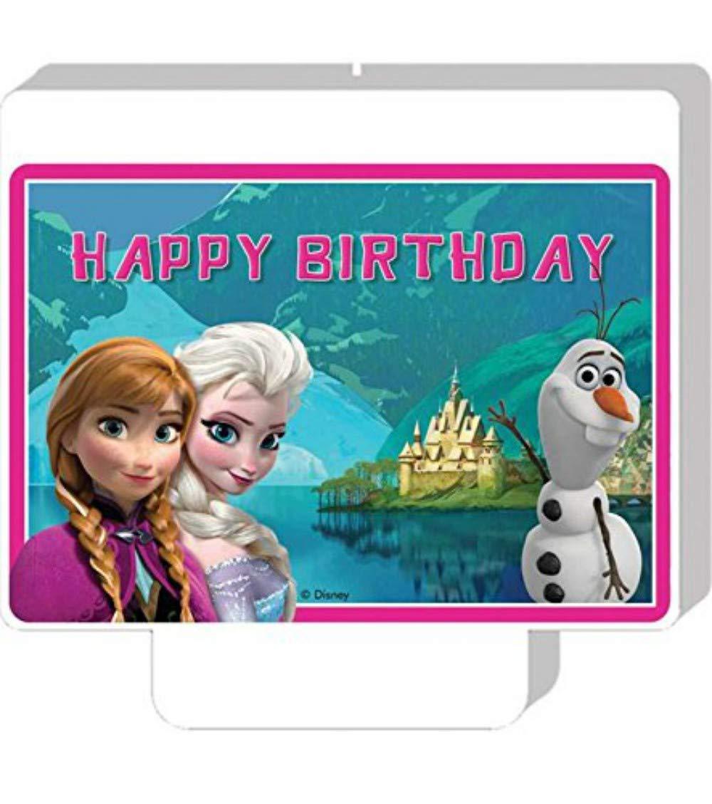 CAPRILO. Vela Infantil Decorativa para Tartas Frozen ...