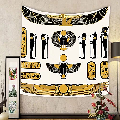 Gzhihine Custom tapestry Egyptian Decor Tapestry Illustration of Ancient God Sun Ra Old Egyptian Faith Grace Icons Traditional Pagan Print for Bedroom Living Room Dorm Multicolor by Gzhihine
