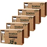 綿棒 竹コットンバド コットンスワップ 綿100%ダブル耳綿棒 環境にやさしい プラスチックフリー環境に優しい包装 5パック(1000個)