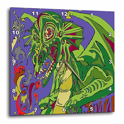Old Dragon Story Teller - Wall Clock, - dragon wall art decor