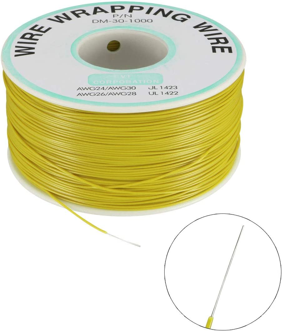 uxcell OK Wire Tin Plated Copper Cord Wire Wrapping P//N DM-30-1000 30 AWG 650ft Length Gray
