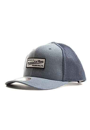 eeb773091df Mitchell   Ness Men Caps Trucker Cap Washout 110 Flexfit Blue Adjustable