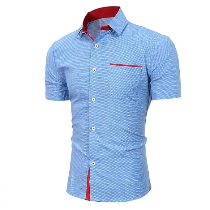 De Moda Tops 2018 Para Hombre Verano Ropa Ocio Camisas kNnOXwZ80P