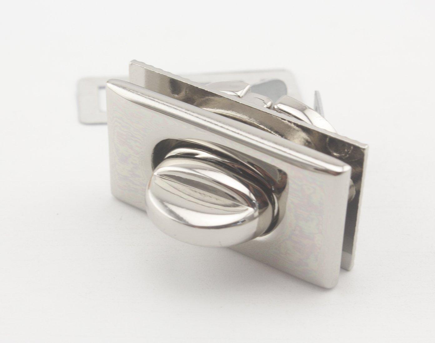 Rettangolo borsa Twist lock Turn Lock nickel 1246 Nikel 3DAN