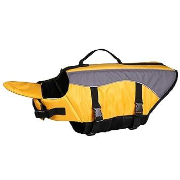 Perro Ajustable de Liberación Rápida Flotador de Agua Chaleco Salvavidas Chaqueta Preservador de Ahorro para Mascotas Perro Cachorro Amarillo L: Amazon.es: ...