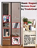 Magnetic Screen Door By TradeGear Fits Full Frame Door Openings Up To 38''x 82'' Heavy-Duty Made of Durable Polyester Mesh And Sewn-In Magnets Keeps The Bugs Out And Lets The Fresh Air And Breeze In
