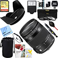 Sigma (885-306) 18-200mm F3.5-6.3 DC Macro OS HSM Lens for Nikon + 64GB Ultimate Filter & Flash Photography Bundle