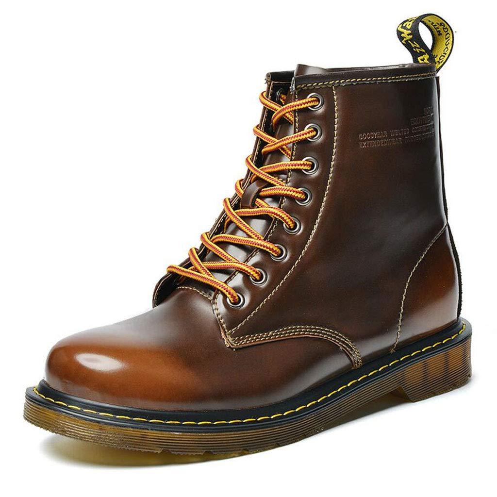 Xxoshoe Bottes Hautes en Cuir pour Hommes Bottes en Cuir pour pour Cuir Hommes Big Head Tooling Shoes Automne Hiver 42 EU|Marron 3f5afa