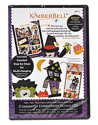 Cute Halloween Embroidery Designs (Kimberbell Oh the Possibilities for Halloween! Companion Embroidery Design CD KD511)
