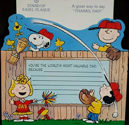 Peanuts Hallmark Father's Day or Birthday Stand-Up Card