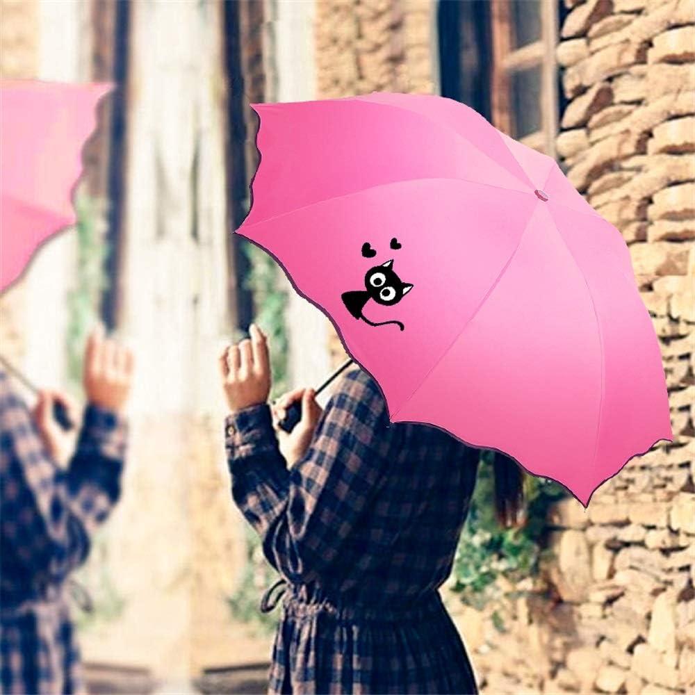 ZKYS Printed Umbrella Umbrella Umbrella Little Fresh Black Plastic Sun Umbrellas Umbrella Pattern Color Optional Color : D