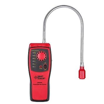 sdfghzsedfgsdfg Detector de gas combustible metano escape del gas natural, probador del analizador portátil de alarma roja: Amazon.es: Hogar