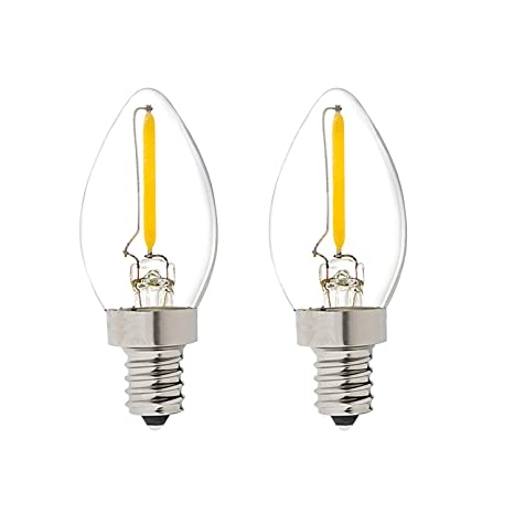 C7 Led Bulb >> C7 Led Nignt Light Bulb Classical Edison Style E12 Candle Base 0 5 Watt Led Filament Bulb Sign Light Replacement Bulb 5 Watts Equivalent Warm White